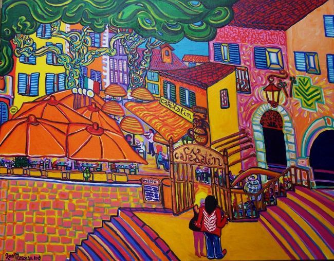 Le Café Latin peint par Igor Marceau ©DR