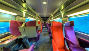 Gli interni del TGV firmati Christian Lacroix