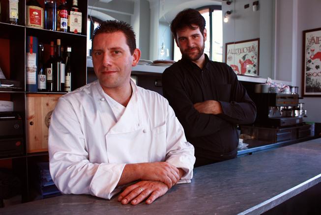Cesare Battisti e Danilo Ingannamorte, chef e sommelier del Ratanà