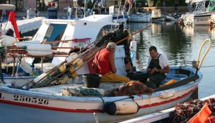 """I tipici """"pointu"""" usati per il pescaturismo"""