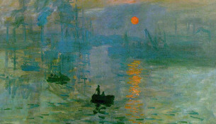 Impression, soleil levant (part) di Claude Monet