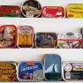 La collezione di scatolette di sardine che arreda il locale © paolo galliani
