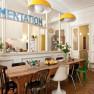 La cucina e il soggiorno della Pensione Eddelweiss