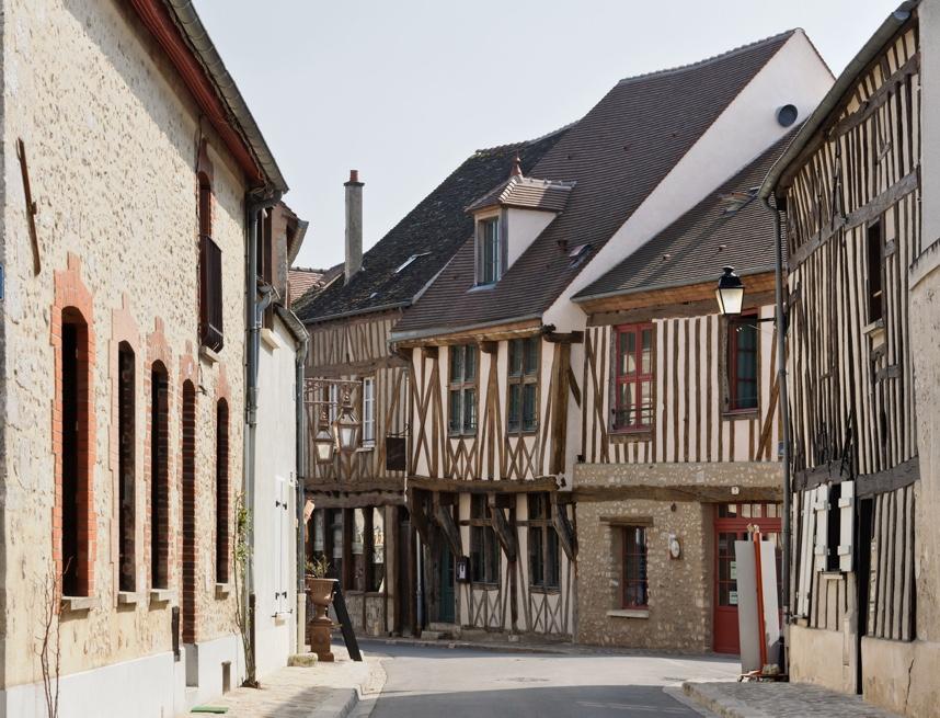 Provins (Seine-et-Marne, France) : maisons a colombages, rue Couverte