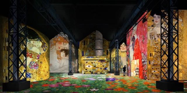 Simulation_Klimt_et_Schiele_La_Sécession_à_Vienne_Atelier_des_Lumières_©_Culturespaces_Nuit_de_Chine 1